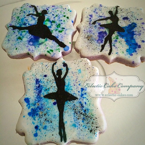 Watercolor Ballerina Cookies