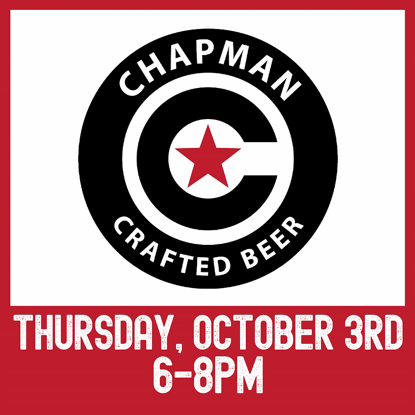Chapman Crafted Beer tasting event