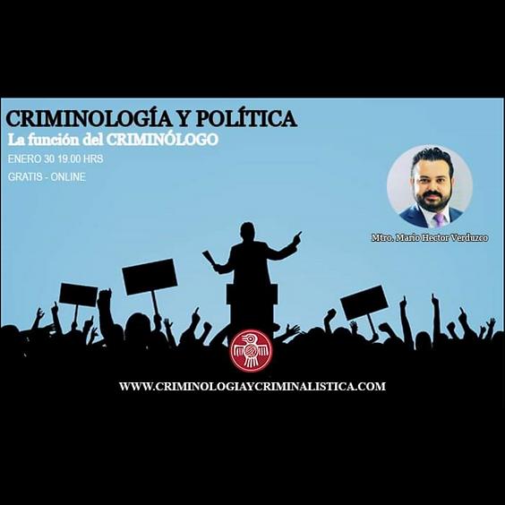 Criminología y política. La función del criminólogo