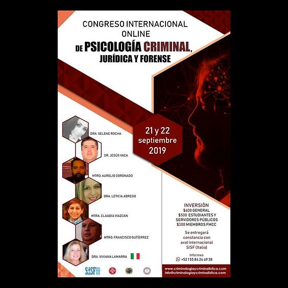 Congreso internacional online de psicología criminal, forense y jurídica