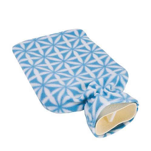 Bouillotte traditionnelle micro-fibre ultra-douce - Motif Bluelight