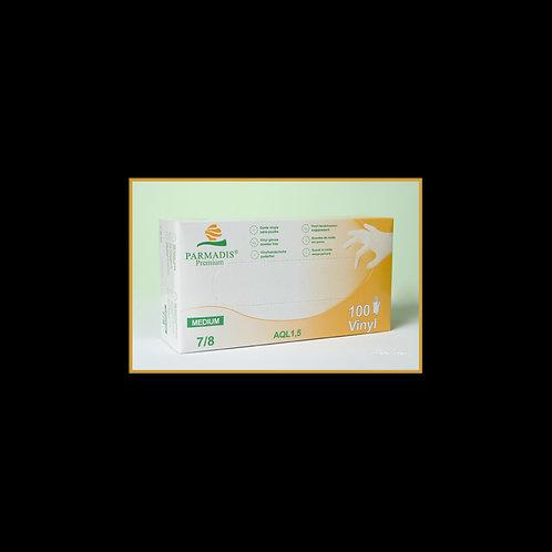 Gants vinyle non poudrés Parmadis Premium x100 unités