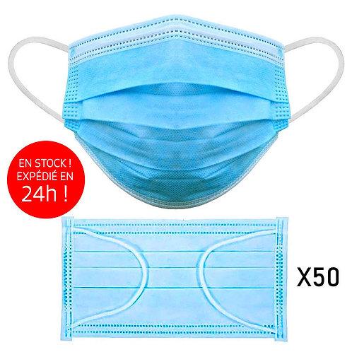 Masques chirurgicaux Haute Filtration Type II, filtration +98 % - Boite