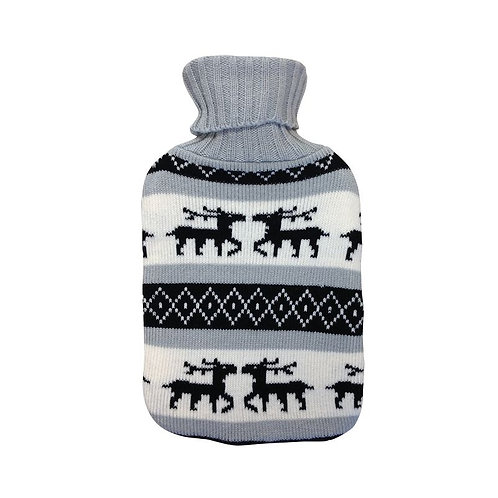 Bouillotte traditionnelle tricotée en polyester dessin Scandinavia