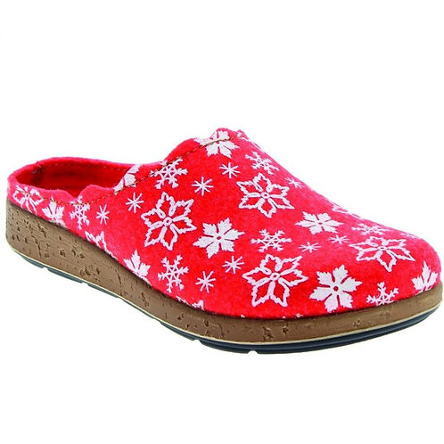 Chaussons / Sabot confort femme Ina rouge