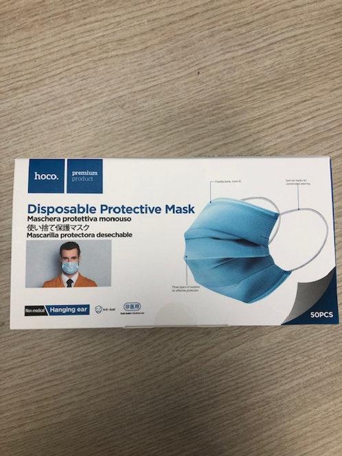 Masques chirurgicaux 3 plis Type II  - Boîte de 50