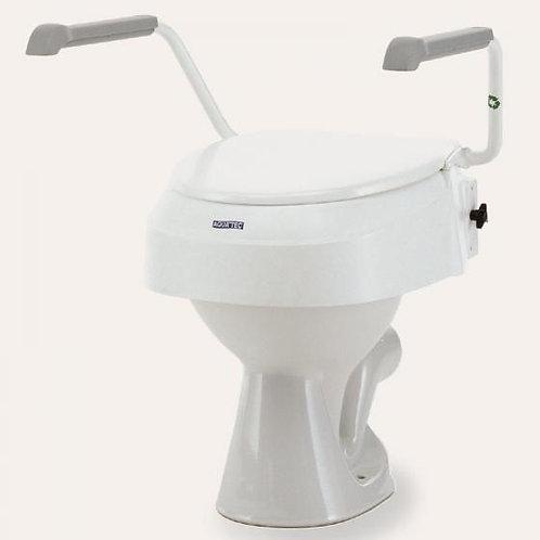 Rehausseur WC réglable hauteur | Avec abattant et accoudoirs ajustables