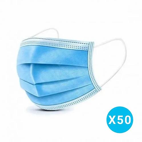 Masques Chirurgicaux Haute Filtration - Boite de 50