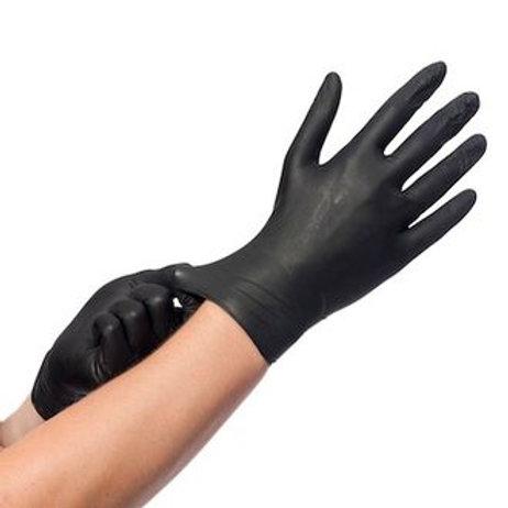 Gants nitrile noir non poudrés x100 unités