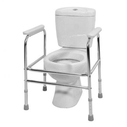 Cadre de toilettes réglable en hauteur