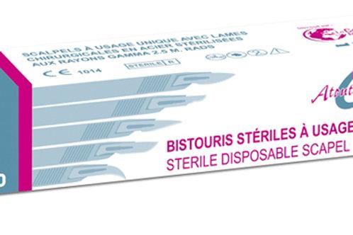 BISTOURI ATOUTCUT STERILE USAGE UNIQUE N°24 - QTE 10