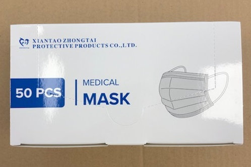 Masques chirurgicaux 3 plis Type IIR - Boîte de 50