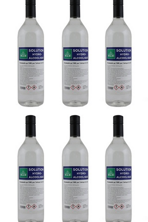 Solution Hydro-Alcoolique - 6 bouteilles de 1 litre