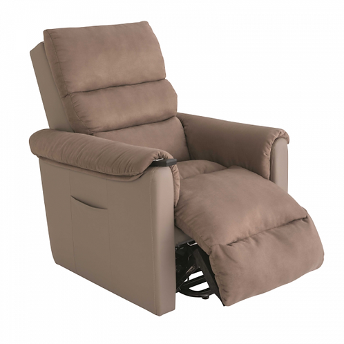 Fauteuil releveur Cosy Up - Tissu EasyClean Taupe - Version 2 Moteurs