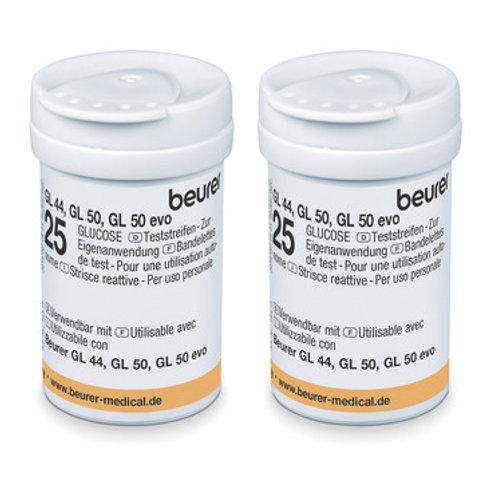 Bandelettes de test pour lecteur de glycémie GL 44 (boite de 50)