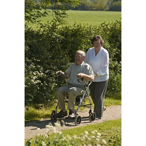 Deambulateur 4 roues et fauteuil de transfert 2 en 1