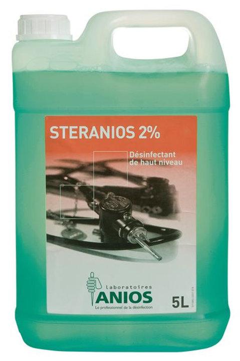 Désinfectant de haut niveau STERANIOS 2% - Bidon de 5 litres