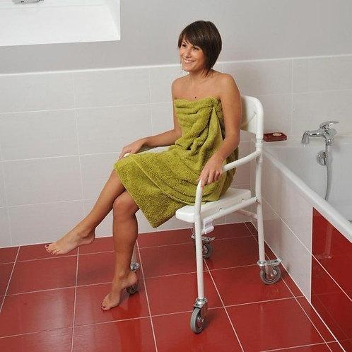 Chaise de douche pliable TOBAGO - Avec roulettes