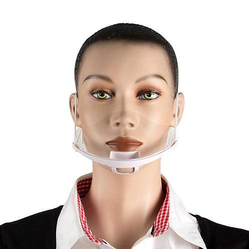 Visière de protection buccale avec couverture bouche et nez - Réutilisable