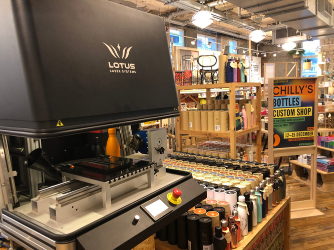 Customising at Urban Outfitters, Oxford Circus