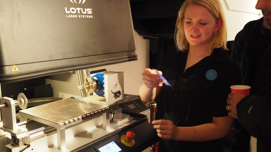 Laser Engraver at Event