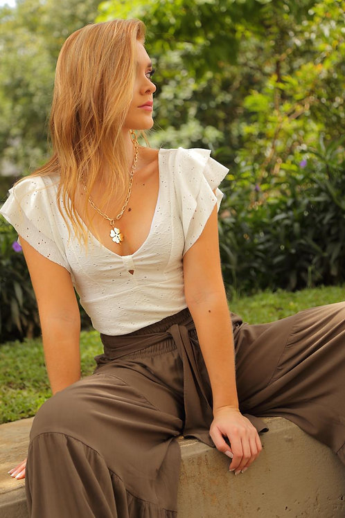 blusa corta