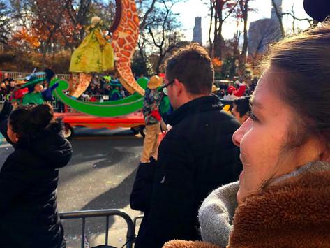 New York, een Christmas kick-off in the City