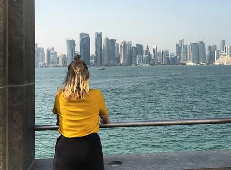 Doha, 16 uur in deze snikhete stad
