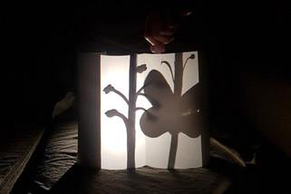 Teatro de sombras realizado pela turma do 3º ano Fundamental