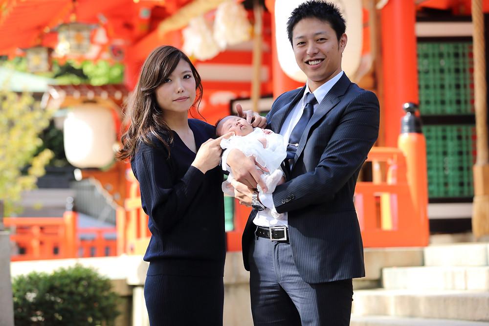 お宮参り 大阪 出張写真撮影 奈良 京都 赤ちゃん