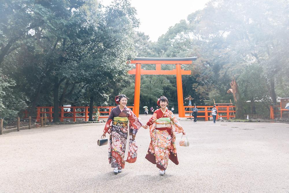 成人式前撮り 京都 ロケーション撮影