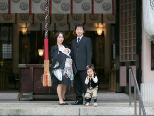 坐摩神社 お宮参り 出張撮影