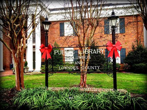 Library at Christmas