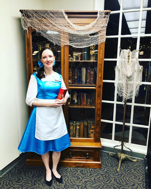 Mona Vance-Ali as Belle from Beauty and the Beast