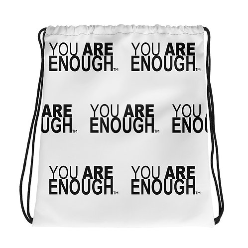 You Are Enough Drawstring bag