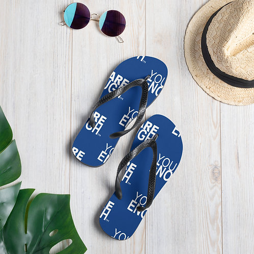 Yes, You Are Enough Flip-Flops (Blue)