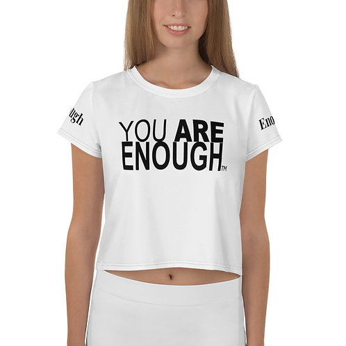 You Are Enough All-Over Print Crop Tee