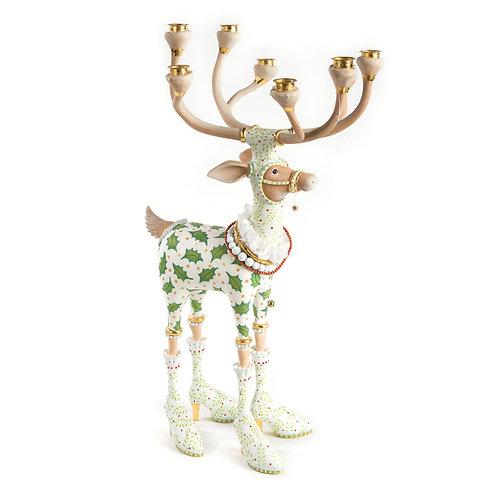 Patience Brewster Dash Away Vixen Reindeer Candelabra