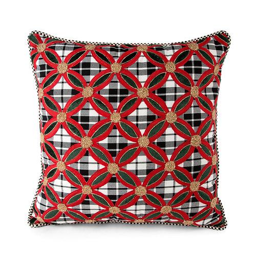yuletide plaid pillow