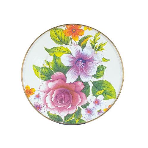 flower market salad/dessert plate - white