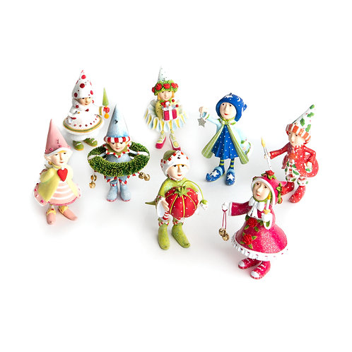 Patience Brewster Dash Away Elves Mini Ornament Set