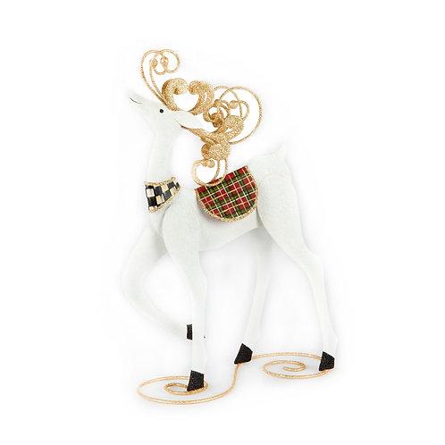 Standing Snow Deer - Tartan