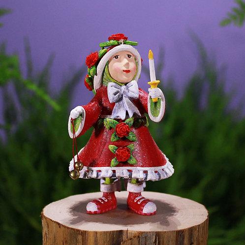 Patience brewster dash away donna's elf mini ornament