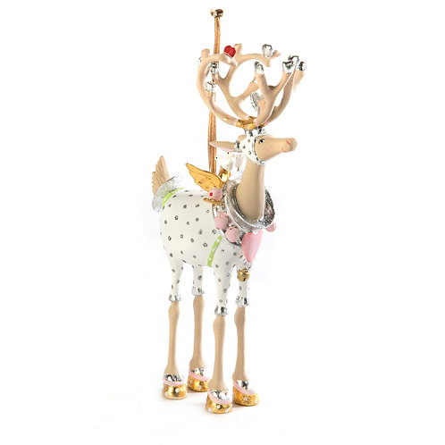 Patience brewster moonbeam cupid reindeer ornament