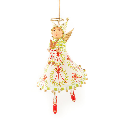 Patience Brewster Puppy Paradise Angel Ornament
