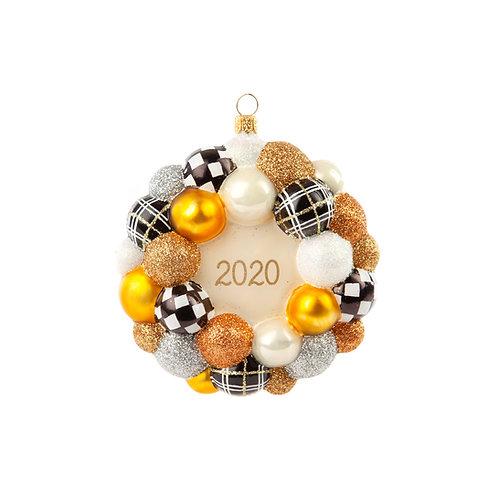 Glass Ornament - 2020 Golden Hour Bauble Wreath