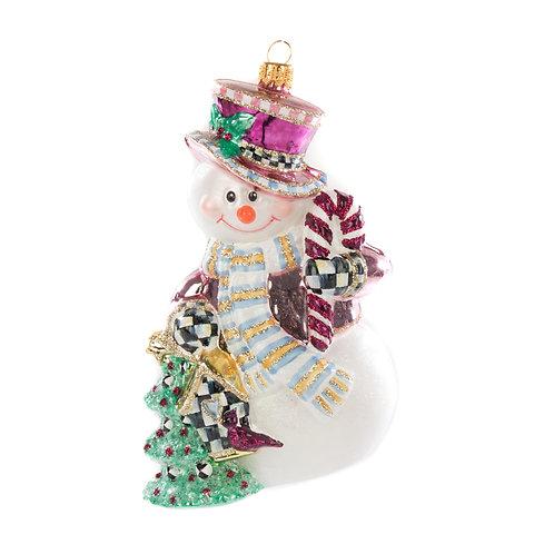 Glass Ornament - Home Sweet Snowman