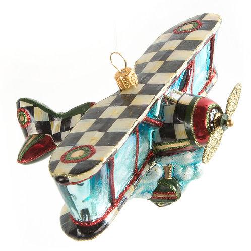 Glass Ornament - Airplane