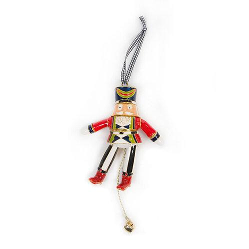 Cloisonne Nutcracker Ornament - Earl