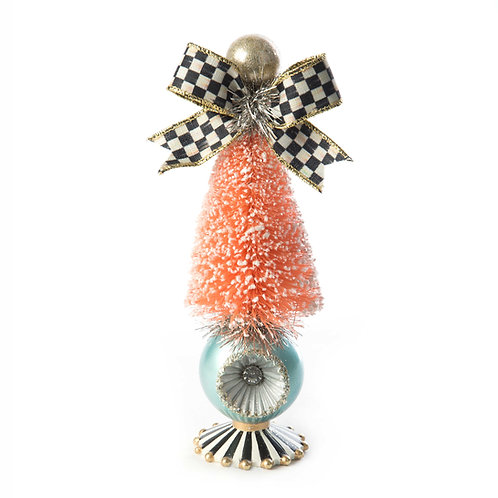 Home sweet snow bottle brush tree - small - pin
